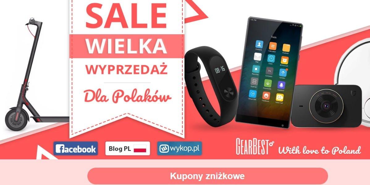 Tabletowo.pl GearBest zorganizował Wielką Wyprzedaż tylko dla Polaków. W ofercie m.in. Xiaomi Mi 5 i Mi Band 2 Android Promocje Smartfony Wearable Xiaomi