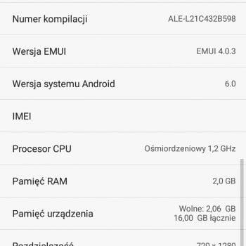 Huawei P8 Lite otrzymuje majowe poprawki zabezpieczeń Androida 18
