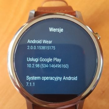 Moto 360 2nd gen otrzymuje aktualizację do Android Wear 2.0