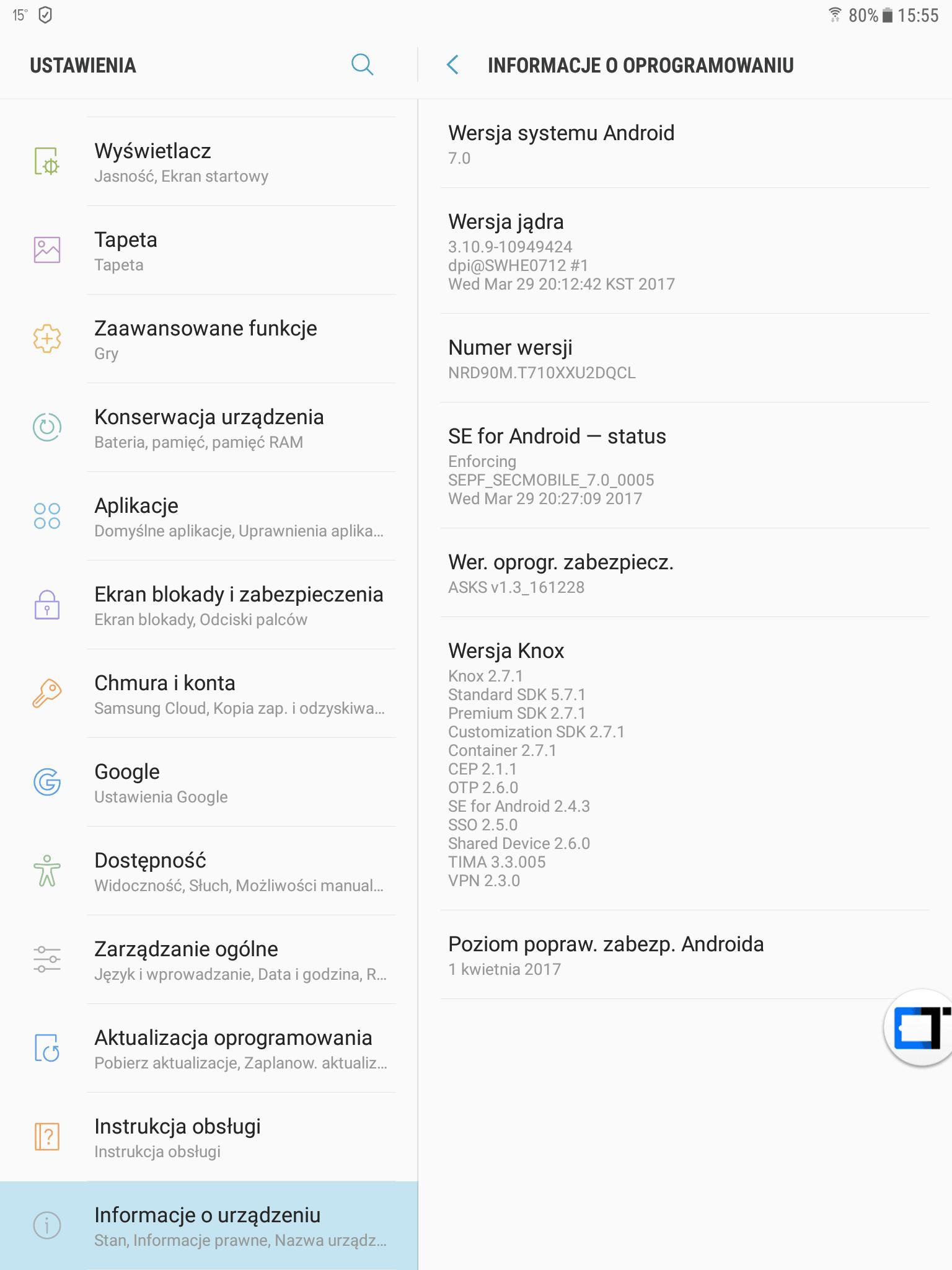 Tabletowo.pl Samsung Galaxy Tab S2 8.0 Wi-Fi (SM-T710) dostaje aktualizację do Androida 7.0 Nougat Aktualizacje Android Samsung Tablety