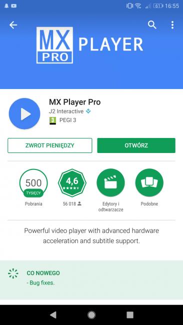 Taka promocja, że aż zal nie skorzystać - MX Player Pro można kupić teraz za grosze. Dosłownie! 17