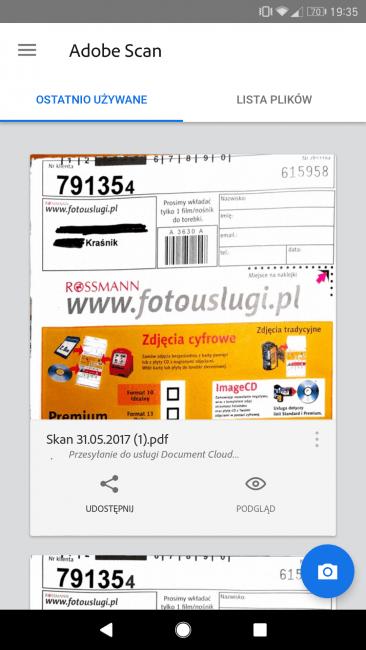 Tabletowo.pl Adobe wypuściło własną aplikację do skanowania dokumentów - Adobe Scan Aplikacje Nowości Opinie Prześwietlenie Aplikacji