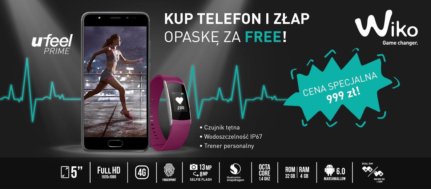 Tabletowo.pl Dobra promocja: kup Wiko Ufeel Prime za 999 zł, a opaskę Wiko WiMate za 399 zł dostaniesz za darmo Android Promocje Smartfony