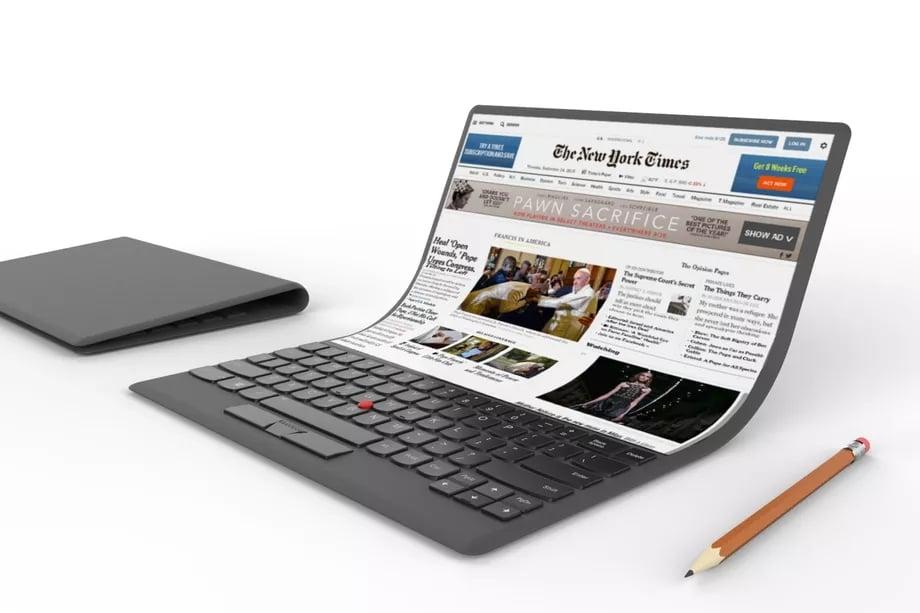 Według Intela laptop ze składanym ekranem mógłby pojawić się za dwa lata