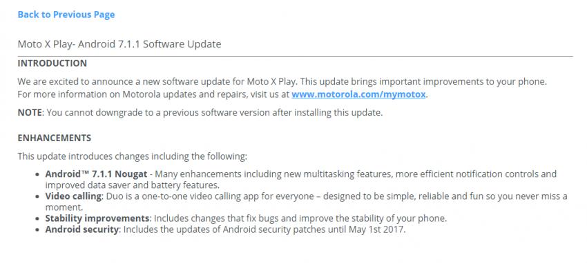 Tabletowo.pl [AKTUALIZACJA] Motorola Moto X Play nareszcie z Androidem Nougat Aktualizacje Motorola Nowości Oprogramowanie