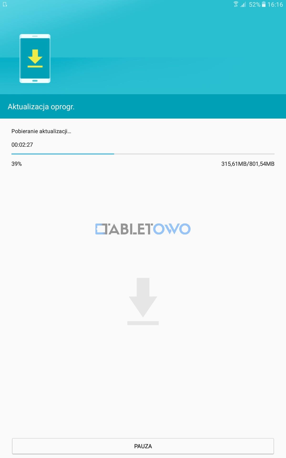 Samsung Galaxy Tab A 10 1 2016 LTE (SM-T585) też zaktualizowany do