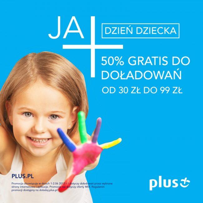 Tabletowo.pl Plus świętuje Dzień Dziecka - bonus 50% do doładowania na kartę GSM Promocje