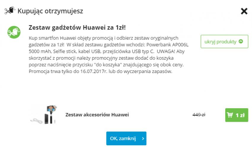 Huawei - zestaw akcesoriów