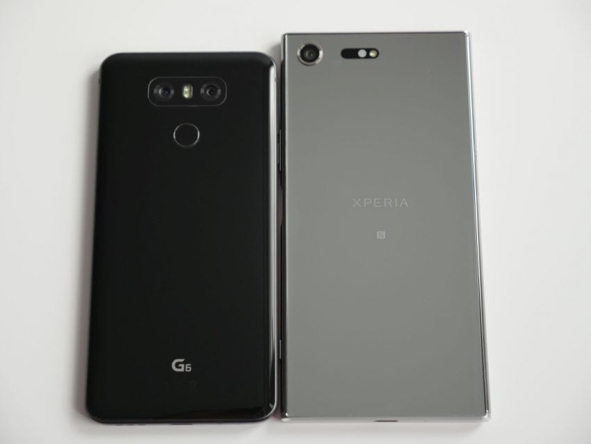 Porównanie: Sony Xperia XZ Premium vs LG G6 30