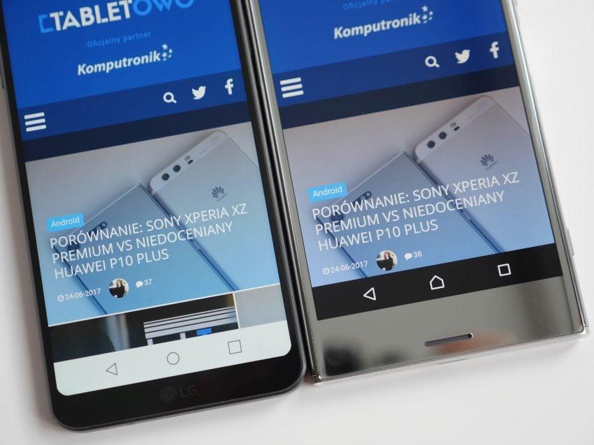 Porównanie: Sony Xperia XZ Premium vs LG G6 32