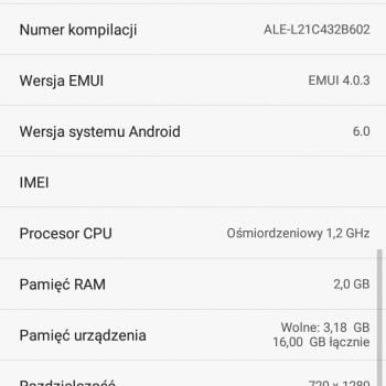 Huawei wciąż pamięta o P8 Lite - smartfon dostał najnowsze poprawki zabezpieczeń Androida 22