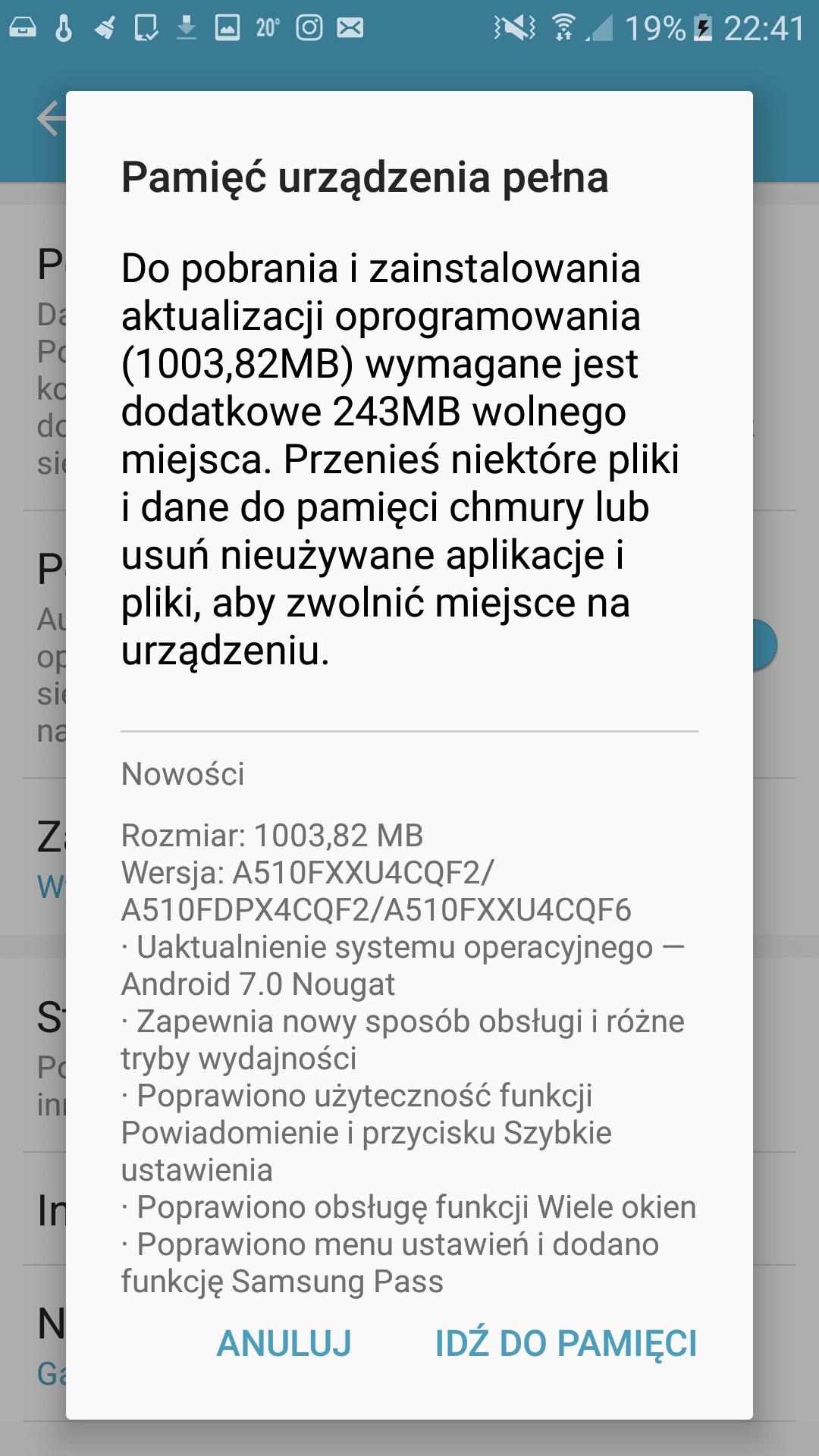 Tabletowo.pl Samsung Galaxy A5 2016 otrzymał aktualizację do Androida 7.0 Nougat Aktualizacje Android Samsung Smartfony