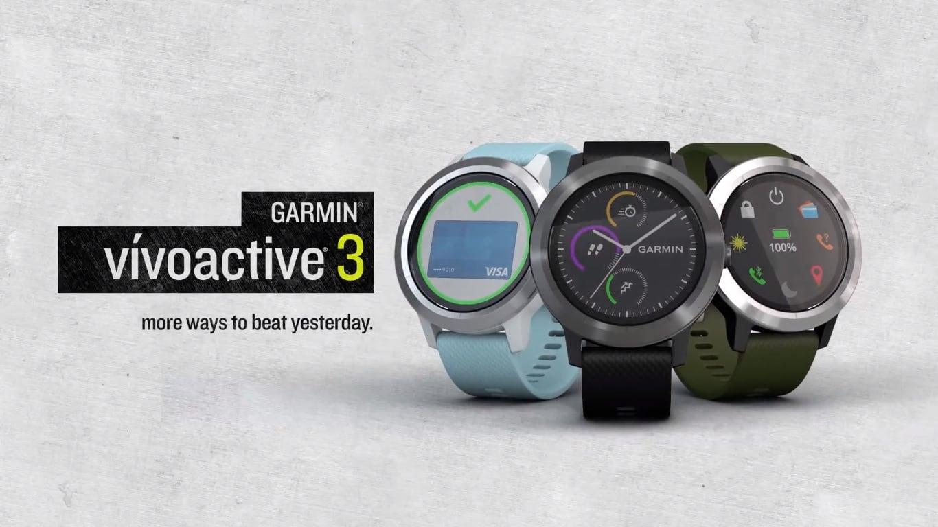 Garmin pokazał trzy nowe wearables: vívoactive 3, vívomove HR i vívosport 19