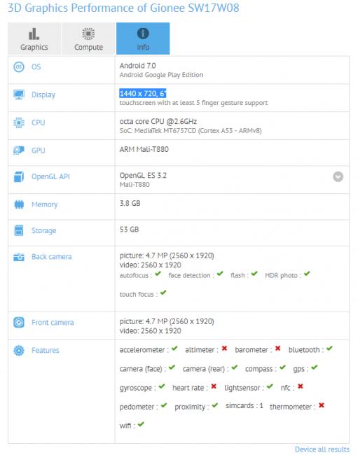 Gionee szykuje smartfon z ekranem 18:9. Do Polski też może on trafić, tylko jako Allview X4 Soul Infinity 17