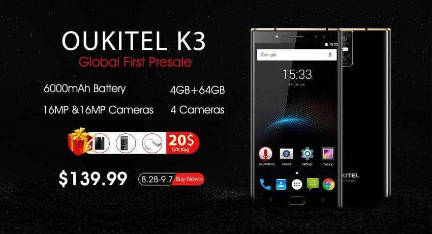 Tabletowo.pl Oukitel K3 trafił do przedsprzedaży. Jak zwykle, są korzyści dla niecierpliwych Chińskie Promocje Smartfony