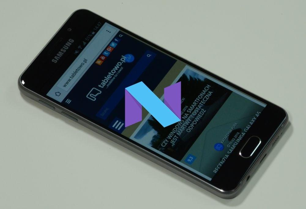 Tabletowo.pl Samsung Galaxy A3 2016 z wolnej sprzedaży też dostał aktualizację do Androida 7.0 Nougat Aktualizacje Android Samsung Smartfony