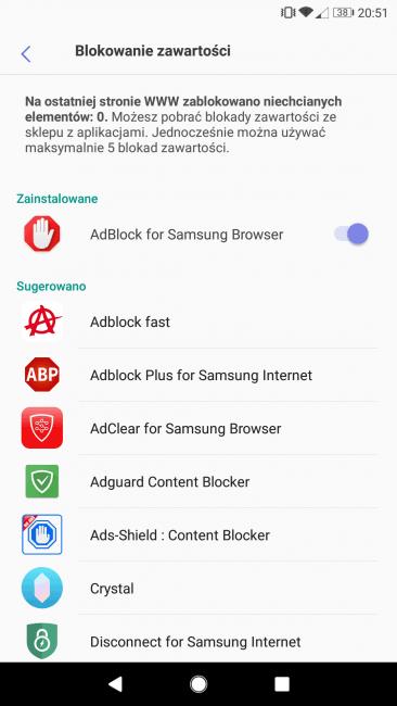 Adblock - Samsung Browser