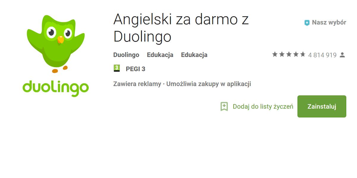 Tabletowo.pl Duolingo - aplikacja do nauki języków, którą w samym Google Play pobrano 100 milionów razy Aplikacje Google Raporty/Statystyki