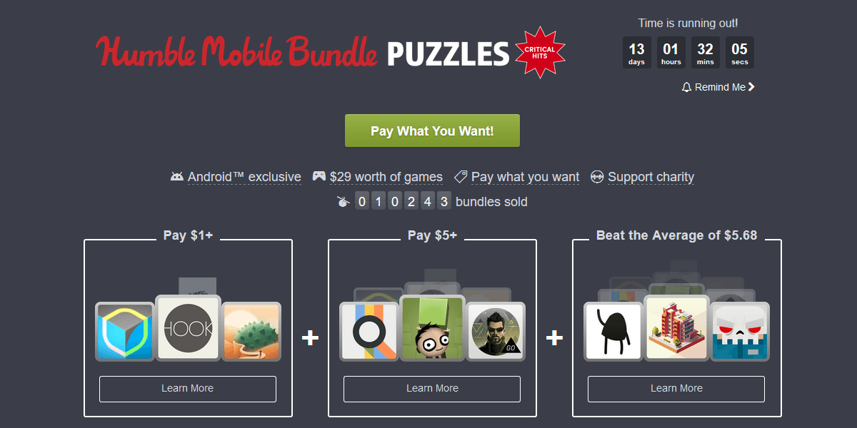 Tabletowo.pl Tanie gry i wspomaganie akcji charytatywnych, czyli kolejny Humble Mobile Bundle Aplikacje Gry Paczki Promocje