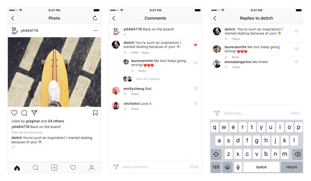 Komentarze na Instagramie są w porządku - aplikacja od teraz łączy je w wątki 17