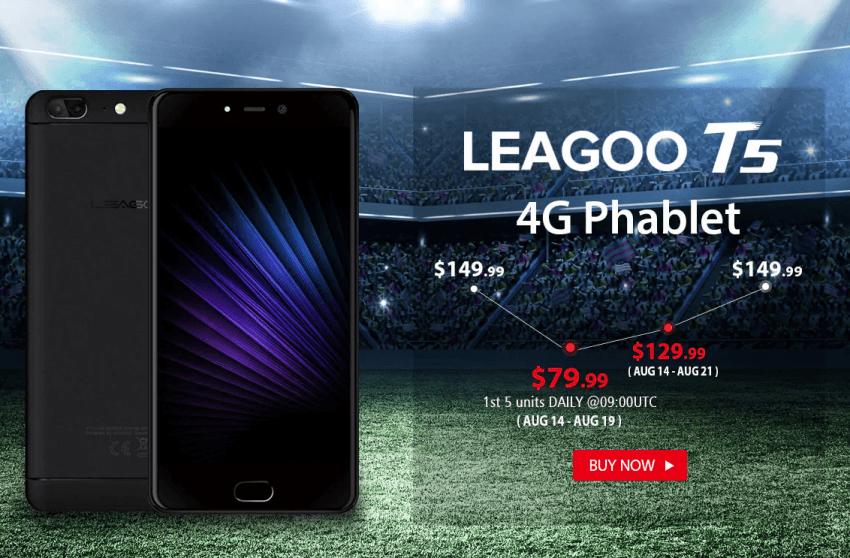 Tabletowo.pl Lubisz promocje? LEAGOO T5 możesz dostać za 40% ceny standardowej Chińskie Promocje Smartfony