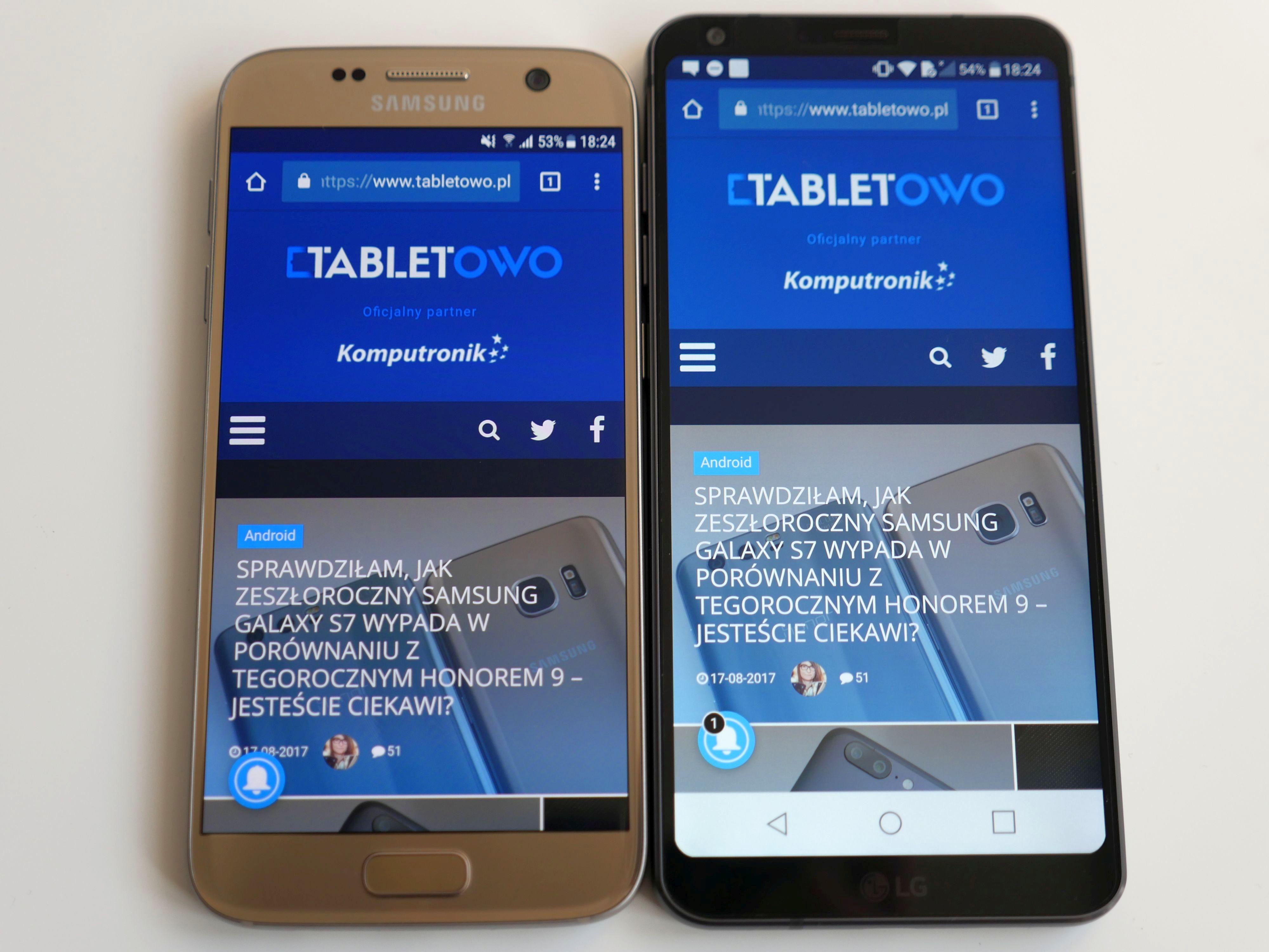 Jak wypada zeszłoroczny flagowiec Samsunga na tle tegorocznego flagowca LG? Porównanie: Samsung Galaxy S7 vs LG G6 28