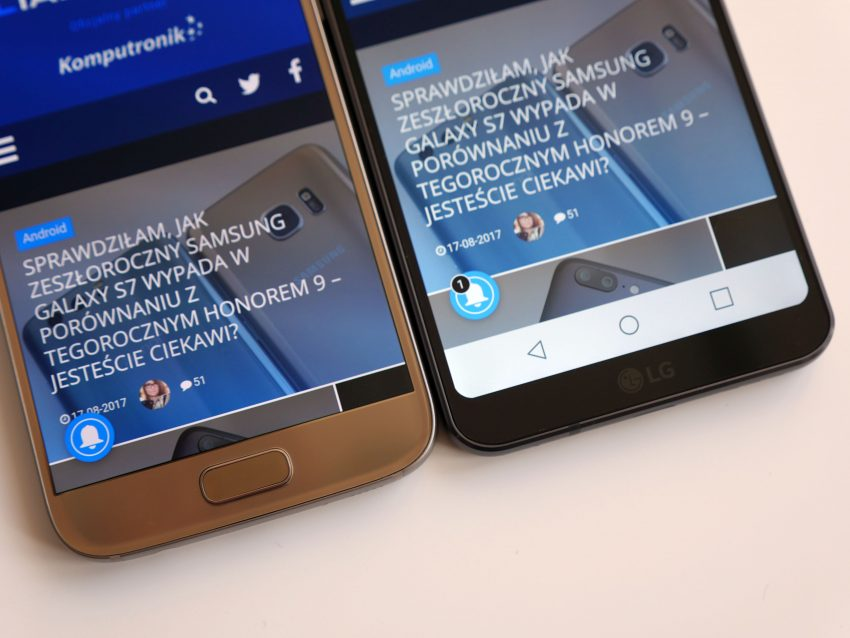 Jak wypada zeszłoroczny flagowiec Samsunga na tle tegorocznego flagowca LG? Porównanie: Samsung Galaxy S7 vs LG G6 134