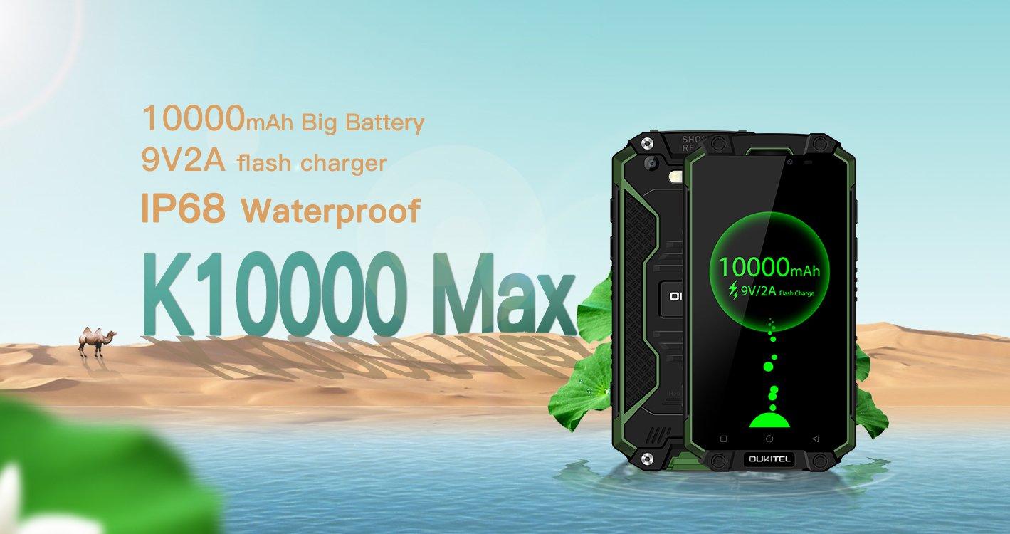 Baterie w iPhonie 7 Plus i iPadzie mini 4 wysiadają w porównaniu z tą zamontowaną w Oukitelu K10000 Max