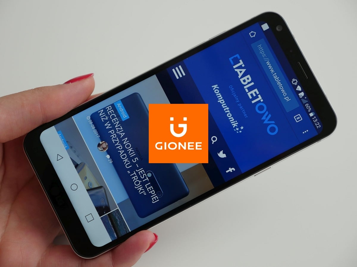 Każdy chce mieć w ofercie smartfon z ekranem 18:9. Gionee też i wkrótce taki zaprezentuje 19