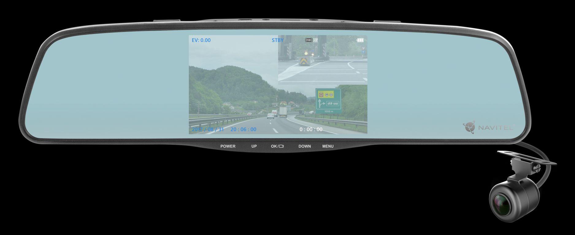 NAVITEL MR250 - lusterko wsteczne, wideorejestrator i kamera cofania w jednym już do kupienia w Polsce 21