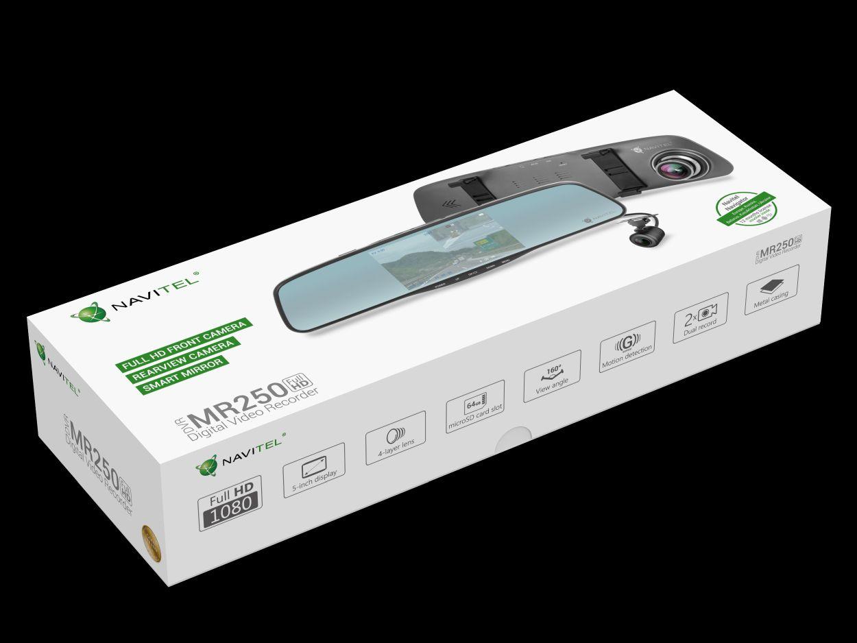 NAVITEL MR250 - lusterko wsteczne, wideorejestrator i kamera cofania w jednym już do kupienia w Polsce 22