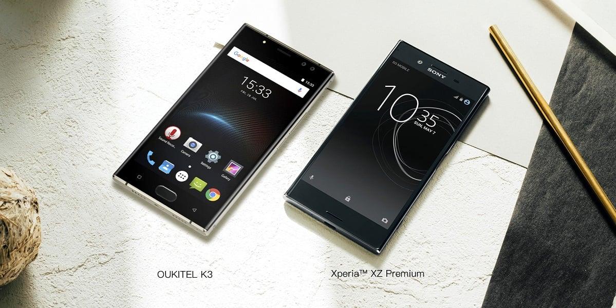 Tabletowo.pl Oukitel K3 błyszczy się jak Sony Xperia XZ Premium, ale ma prawie dwa razy większą baterię Android Chińskie Smartfony Sony