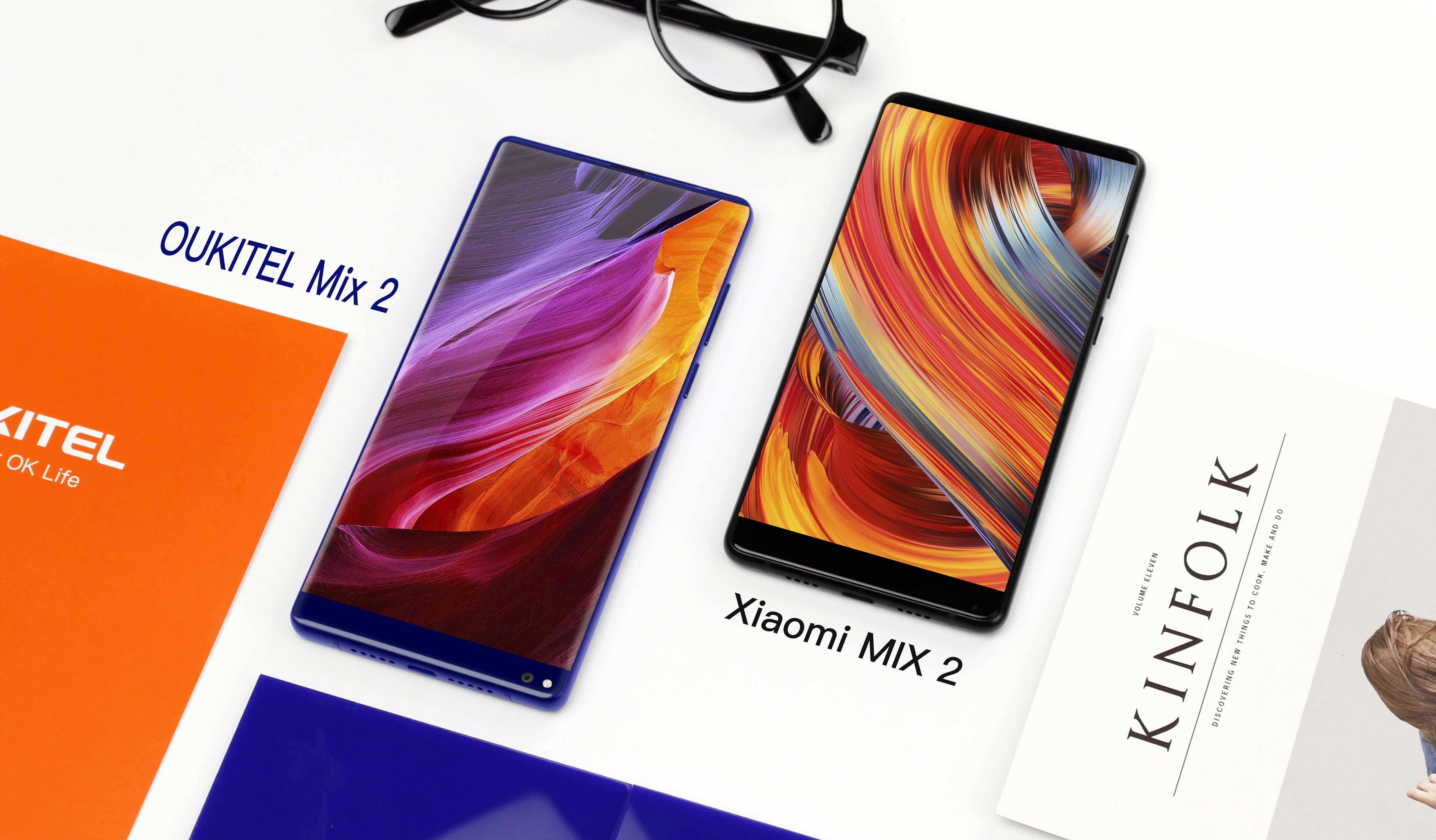 Małe porównanie: Oukitel Mix 2 vs Xiaomi Mi Mix 2. A przy okazji ruszyła już przedsprzedaż Oukitel K10000 Max