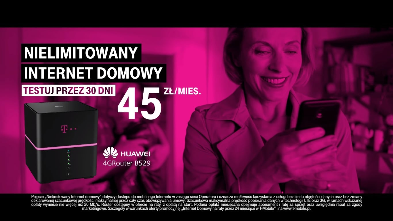 Teraz w T-Mobile kupisz również internet domowy. Od 45 złotych miesięcznie 20