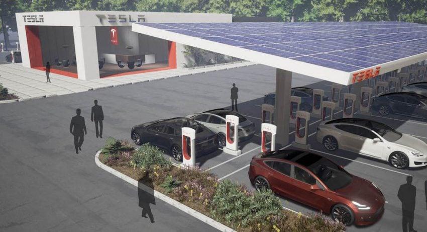 Tabletowo.pl Tesla zadba o komfort kierowców korzystających z Superchargers Moto