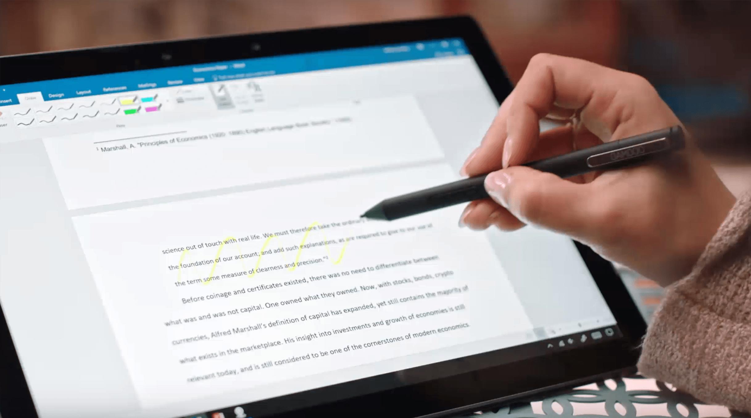 Tabletowo Rysik Bamboo Ink od Wa a dostępny dla dziesiątek tablet³w wspierających Windows Ink Akcesoria