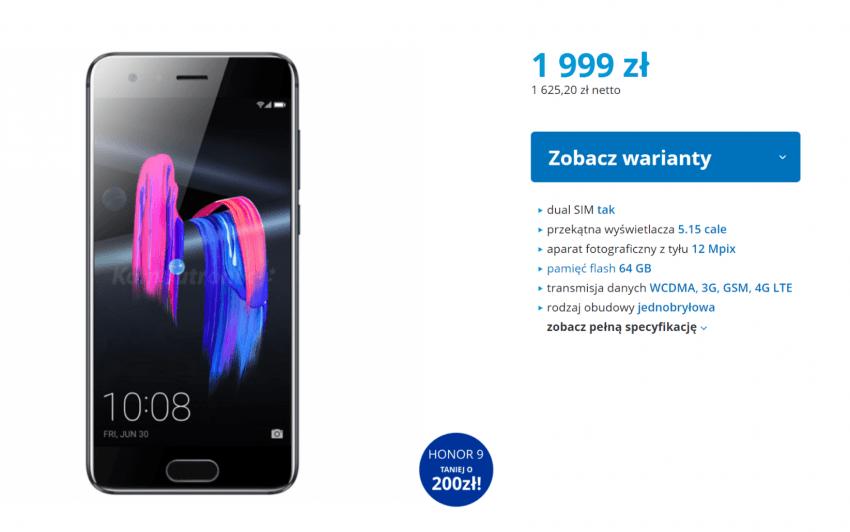 Obniżka cen: Huawei P10 Lite i Honor 9 taniej nawet o dwie stówki