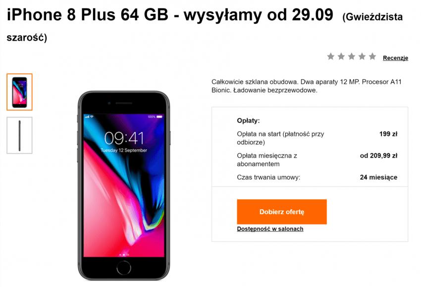 Tabletowo.pl iPhone 8 i iPhone 8 Plus w ofertach operatorów - ceny Apple GSM Smartfony