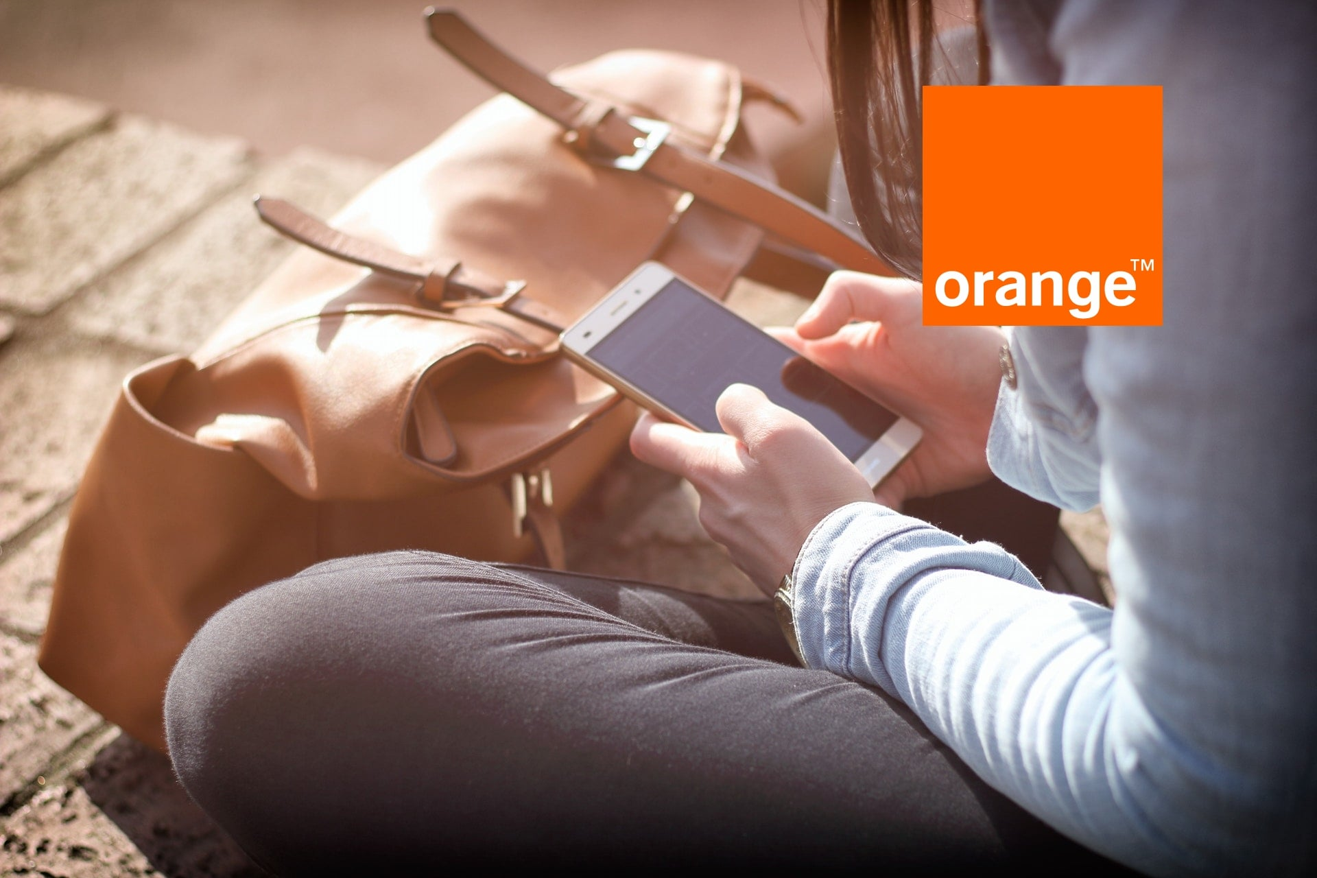 Orange logo smartfon smartphone