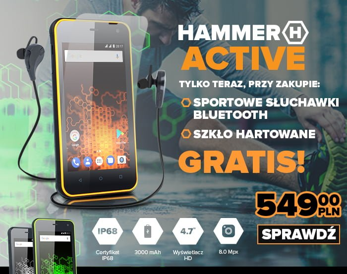 Tabletowo.pl Hammer Active trafił do sprzedaży. Są fajne gratisy dla tych, którzy zamówią go w ciągu najbliższych dni Android Nowości Smartfony