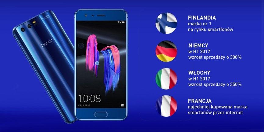 Tabletowo.pl Honor radzi sobie w Europie coraz lepiej. W Finlandii już jest Numerem Jeden Android Huawei Raporty/Statystyki Smartfony