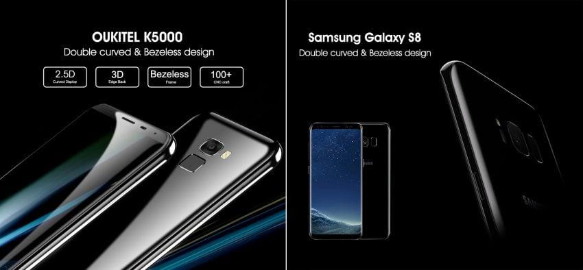 Tabletowo.pl Oukitela chyba nieco poniosło. Porównuje swojego flagowca z... Galaxy S8 Android Chińskie Smartfony