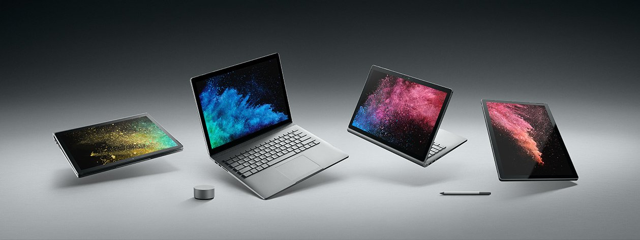 Tabletowo.pl Microsoft niespodziewanie zaprezentował Surface Book 2. Sprzęt ma być mocniejszy niż MacBook Pro Hybrydy Microsoft Nowości Windows