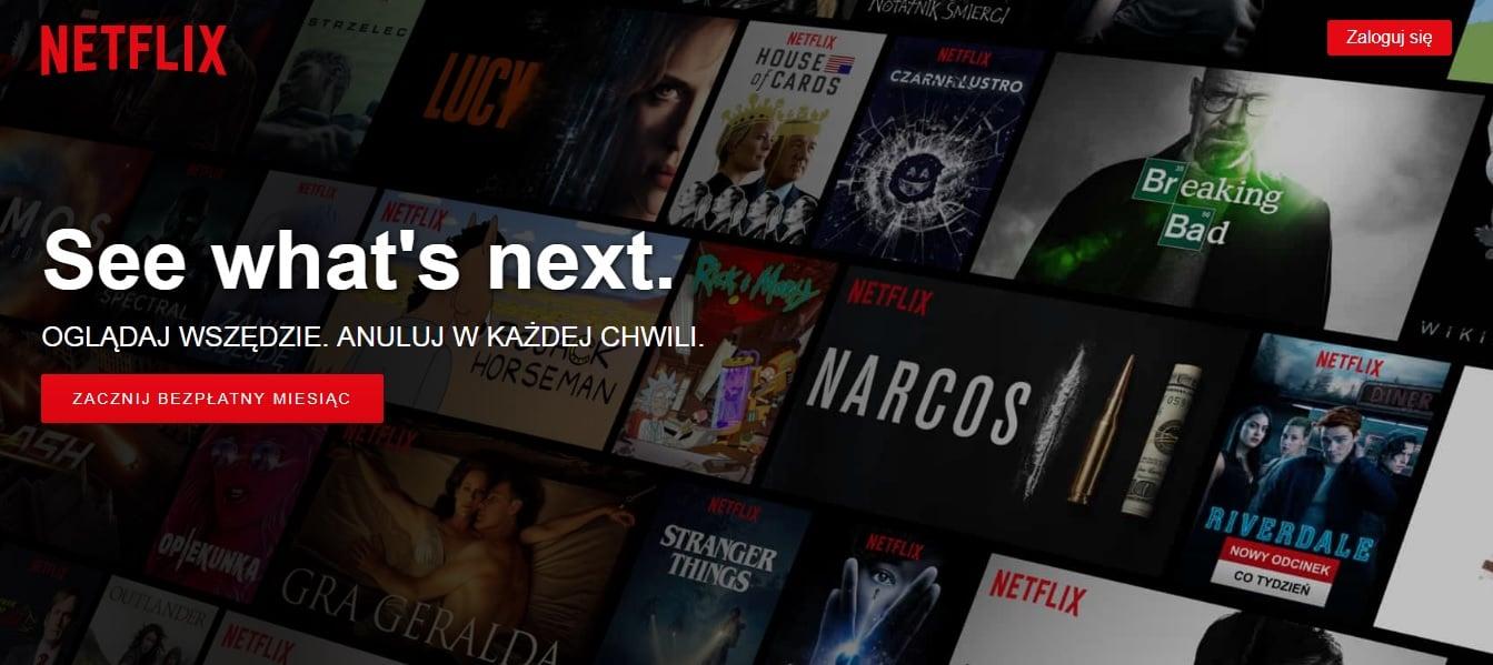 Netflix w Polsce blokuje możliwość korzystania z darmowego okresu próbnego