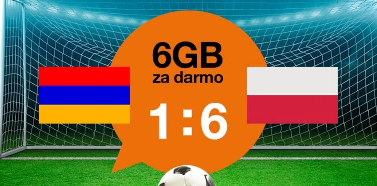 Orange po meczu Polski z Armenią daje swoim klientom po 6 GB internetu 18