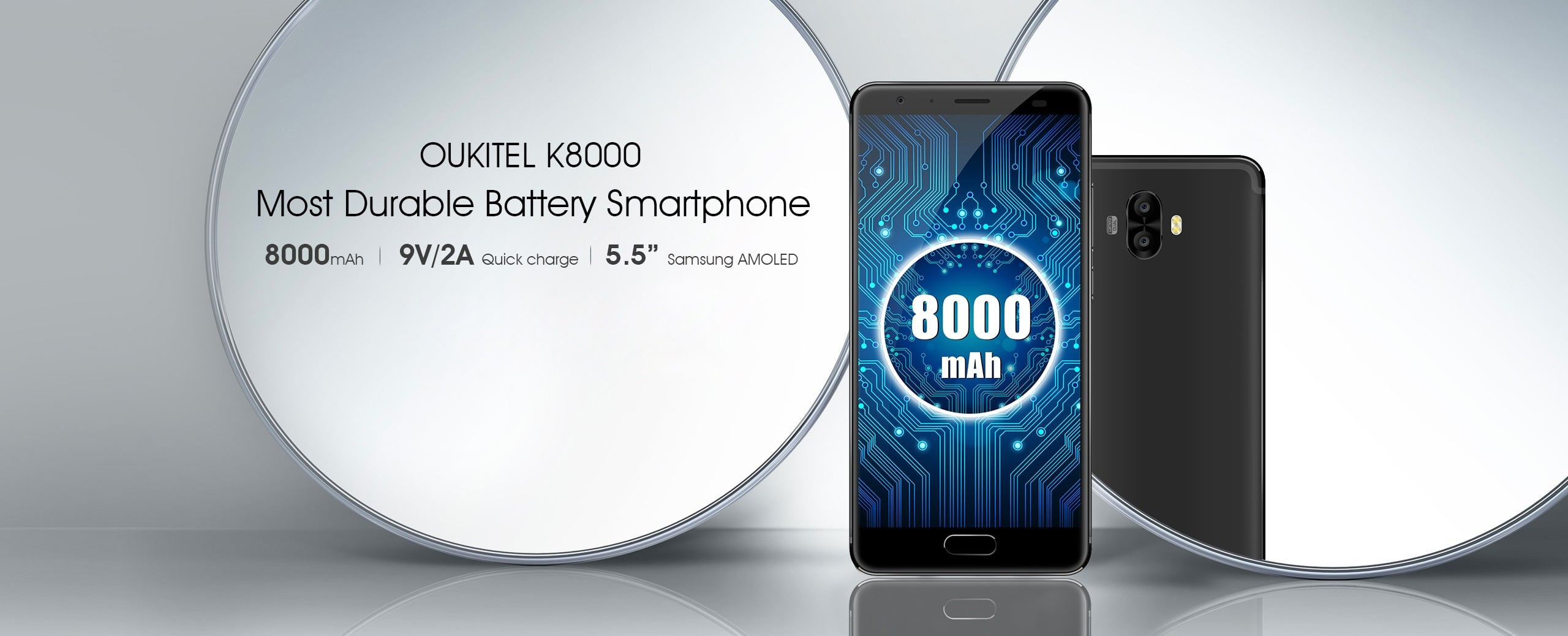 Tabletowo.pl Nadchodzi Oukitel K8000 z baterią 8000 mAh i 5,5-calowym ekranem AMOLED Android Chińskie Smartfony