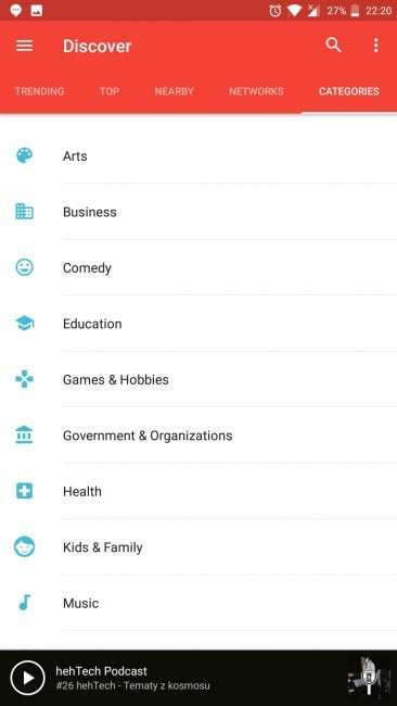 Tabletowo.pl Aplikacja tygodnia #2 - Pocket Casts Aplikacje Cykle Recenzje Aplikacji/Gier