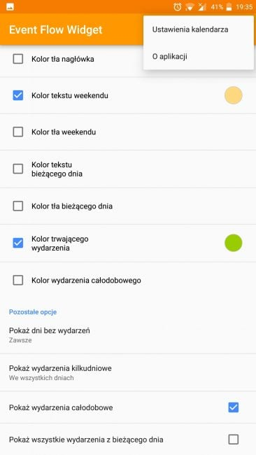 Tabletowo.pl Aplikacja tygodnia #3 - Event Flow Calendar Widget Aplikacje Cykle Recenzje Aplikacji/Gier