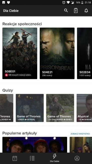 Tabletowo.pl Aplikacja tygodnia #5 - TV Time: tracker seriali Aplikacje Cykle Recenzje Aplikacji/Gier