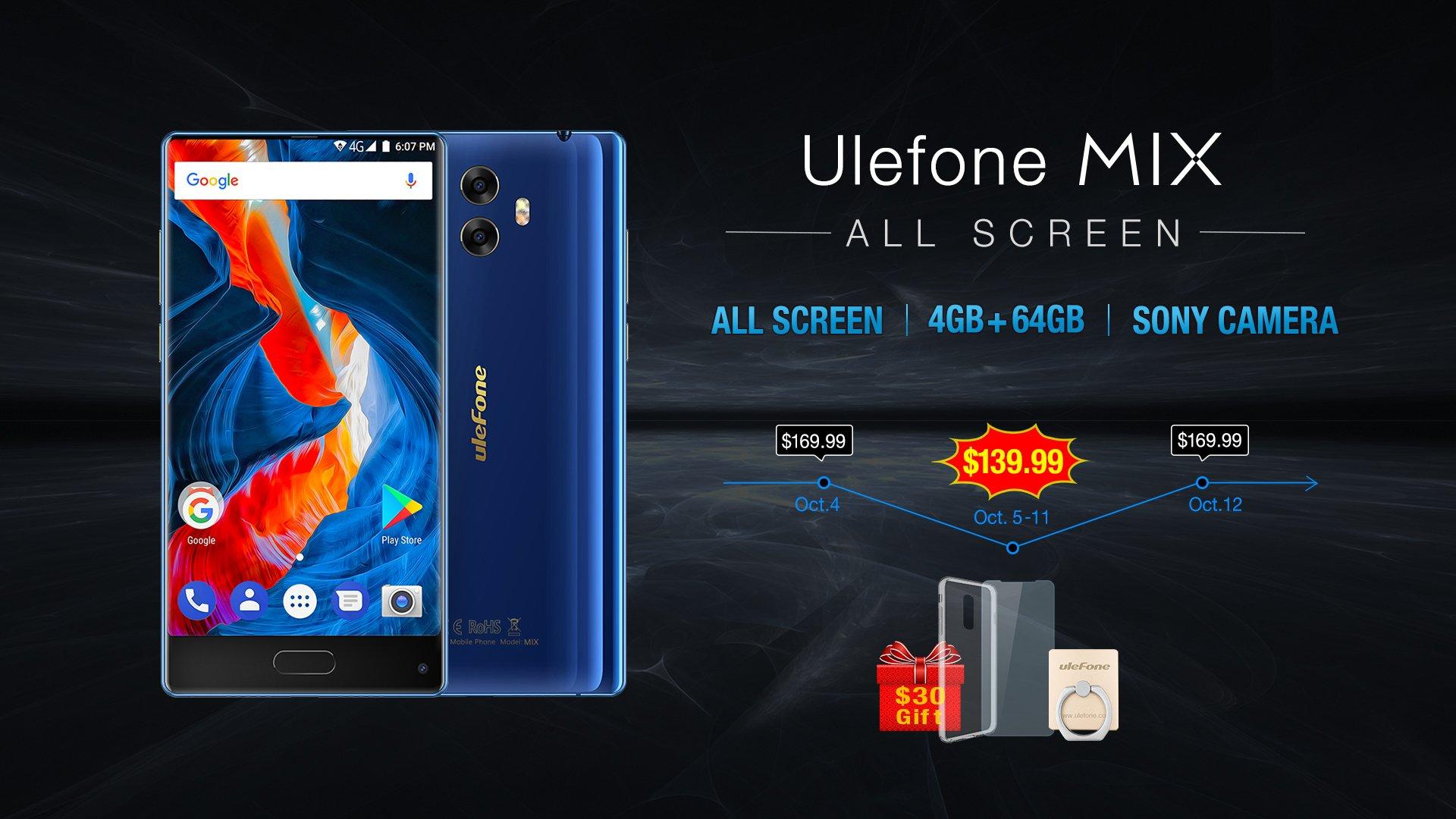 Tabletowo.pl Rozpoczęła się przedsprzedaż Ulefone MIX. Bezramkowiec za niewiele ponad 500 zł Chińskie Smartfony